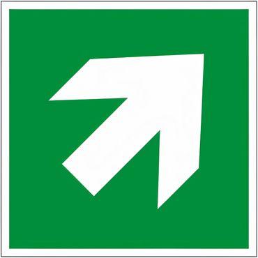 Rettungszeichen - Zusatzzeichen GRÜN als Pfeillsymbol E 006 / Typ D , aufwärts / abwärts - nach ISO 7010 / DIN EN ISO 3864-3 - versch. Ausführungen