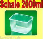 100 Stück Feinkostschalen mit Deckel 2000 ml
