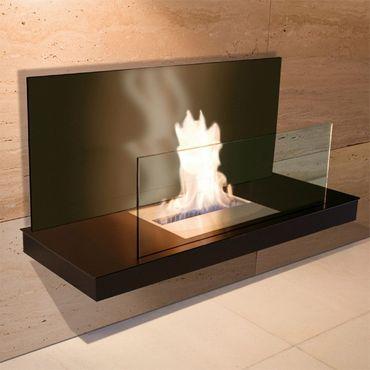 Wall Flame 2 schwarz - Glas schwarz Biokamin - 541 b