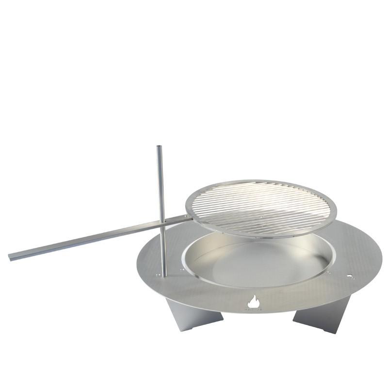 radius rost f r kleine fireplate 75cm feuerstelle. Black Bedroom Furniture Sets. Home Design Ideas