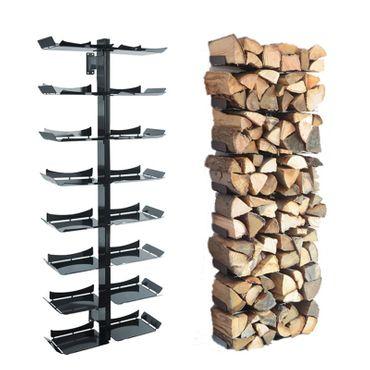 Radius Kaminholzständer Wand schwarz gross Firewood Tree Wooden Tree - 728 a – Bild 1