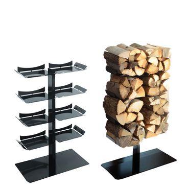 Radius Kaminholzständer Stand schwarz klein Firewood Tree - 730 a
