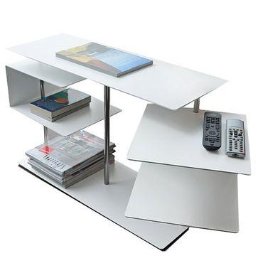 Radius Beistelltisch X-Centric 2 Table weiss 50 x 30 x 77,5 cm - 570 c – Bild 1