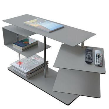 Radius Beistelltisch X-Centric 2 Table Silber 50 x 30 x 77,5 cm - 570 a – Bild 1