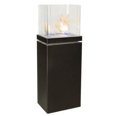 High Flame 1,7 L schwarz gebürsteter Edelstahl Ethanolkamin von Radius Design - 555 a – Bild 1