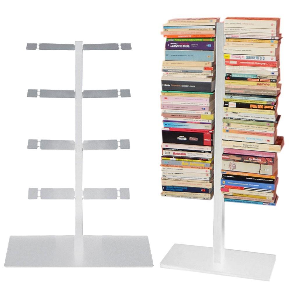radius booksbaum b cherregal mit stand klein silber 716 c m bel regale standregale. Black Bedroom Furniture Sets. Home Design Ideas