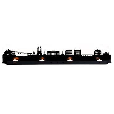 Radius Licht Koblenz Teelichthalter schwarz 80x18x5 - 7110