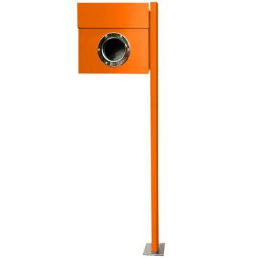 Radius Standbriefkasten Letterman 1 orange mit Pfosten - 563 a – Bild 1