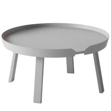 Muuto Around Coffee Table Large Grey Beistelltisch grau 10074