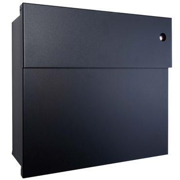 Radius Briefkasten Letterman 4 schwarz mit LED-Klingel rot 560 F-KR