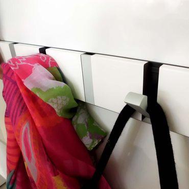 LoCa Garderobe Knax 6 anthrazit (Haken klappbar Alu)  – Bild 3