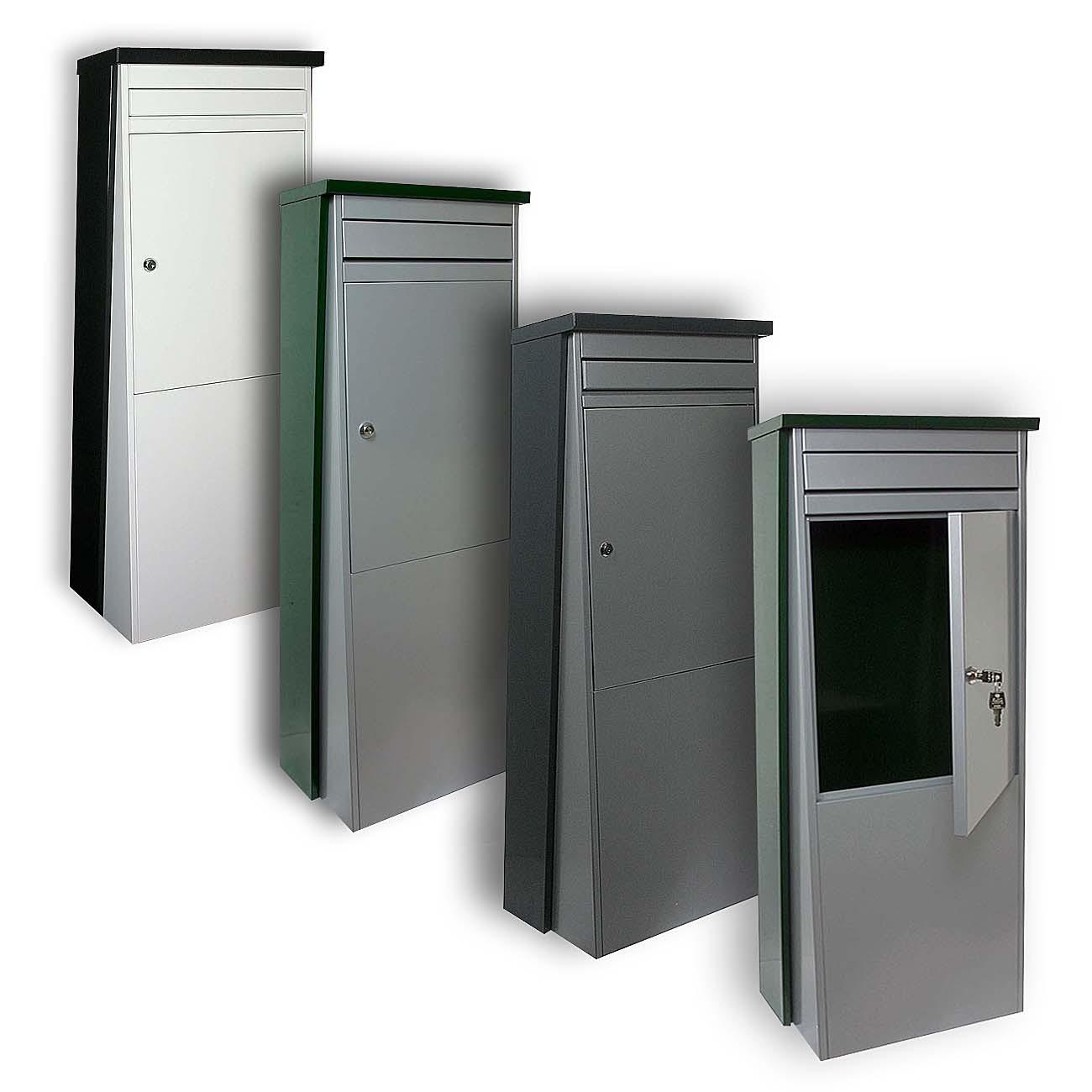 safepost eurotrend no 1 gro er standbriefkasten anthrazit silbergrau 100 x 35 5 cm briefkasten. Black Bedroom Furniture Sets. Home Design Ideas