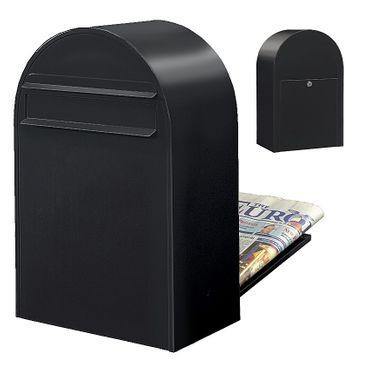 Bobi Classic B Briefkasten RAL 9005 strukturschwarz Zaunbriefkasten – Bild 1