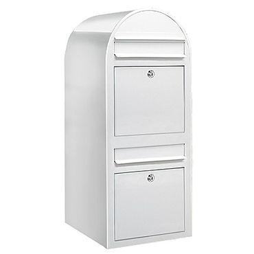 Bobi Duo Briefkasten RAL 9016 weiß Wandbriefkasten – Bild 1
