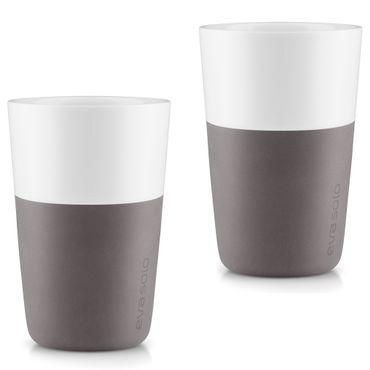 Eva Solo 2 Stück Caffé Latte-Becher Elephant grey / grau 360 ml Kaffeebecher