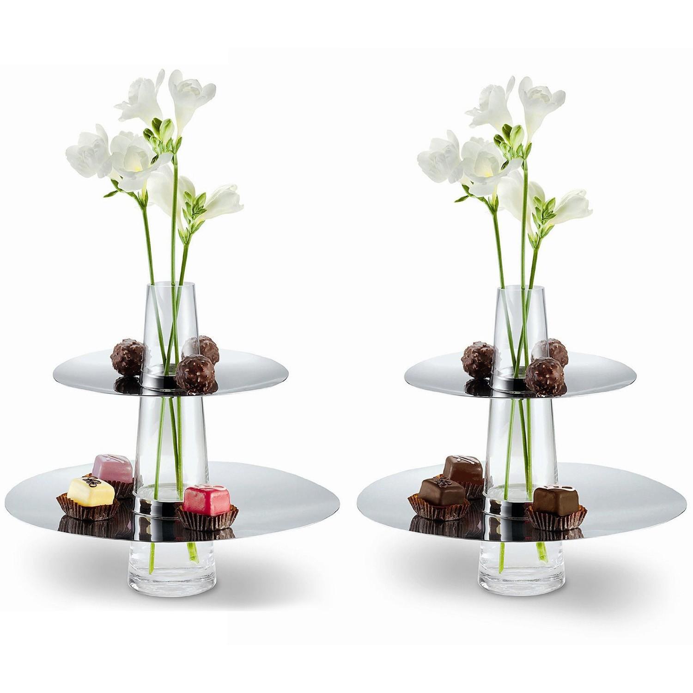 philippi fontaine etag re mit vase edelstahl poliert und glas ebay. Black Bedroom Furniture Sets. Home Design Ideas