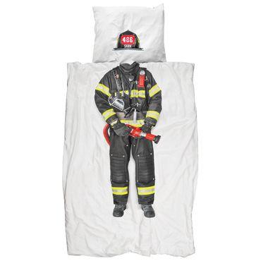 Snurk Bettwäsche Feuerwehr 135 x 200 cm 100% Baumwolle