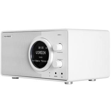 THE+AUDIO PlusRadio DAB+ fernbedienbares Digitalradio (UKW, DAB+. Wecker ,Bluetooth 4.0) weiss