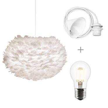 Umage / VITA Eos medium Hängeleuchte für A++ bis E inkl. Kabel, Fassung und Umage / VITA LED A+ weiss 45 x 45 x 30 cm Lampe