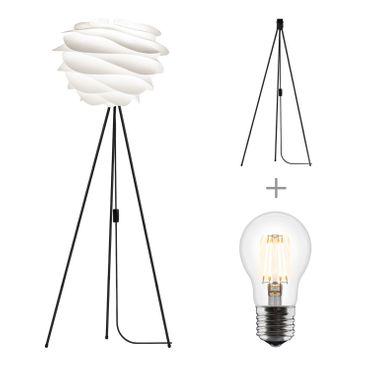 Umage / VITA Carmina Stehleuchte für A++ bis E inkl. Tripod und LED A+ weiss, Gestell schwarz 40 x 50 Tripod H 109 cm Lampe