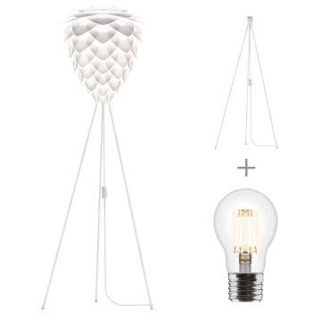 Umage / VITA Conia Stehleuchte weiss D 45 cm incl.Tripod weiß und LED (A+) Lampe