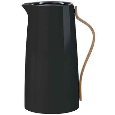 Stelton Emma Isolierkanne für Kaffee 1.2 Liter schwarz Kaffeekanne