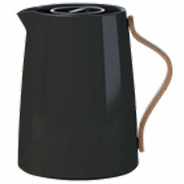 Stelton Emma Isolierkanne für Tee 1 Liter schwarz Teekanne