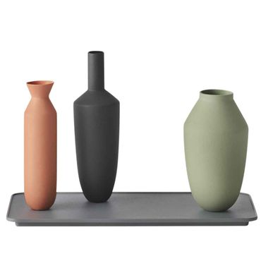 Muuto Balance Vase Set aus 3 Vasen mit Tablett block colour 17081