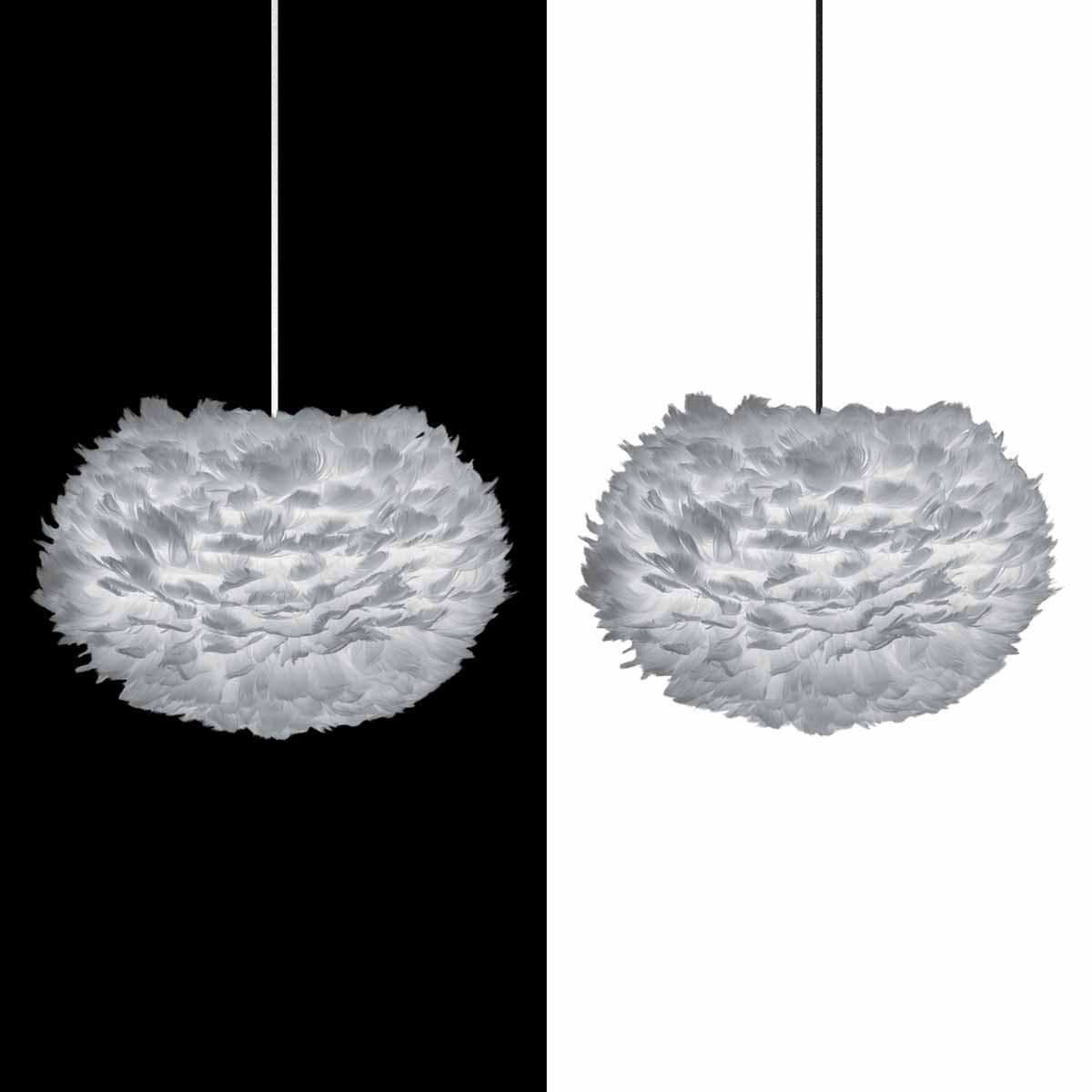 umage vita eos lampenschirm grau aus g nsefedern d 45 cm h he 30 cm lampe light grey m bel. Black Bedroom Furniture Sets. Home Design Ideas