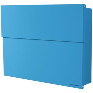 Radius Briefkasten Letterman XXL 2 blau mit verdecktem Zeitungsfach 562n