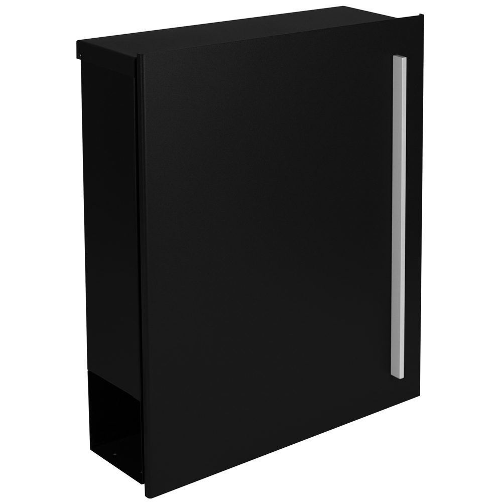 standbriefkasten mit zeitungsfach schwarz ral 9005 mocavi sbox 110b briefkasten mit pfosten. Black Bedroom Furniture Sets. Home Design Ideas