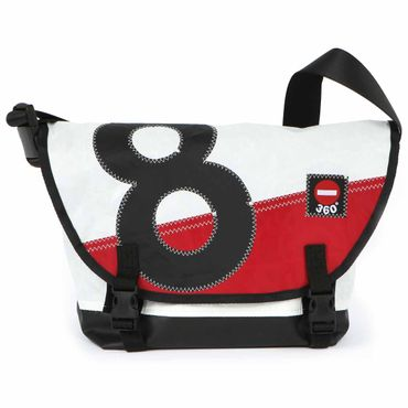 360Grad Tanker Mini Black & Red Segeltuchtasche