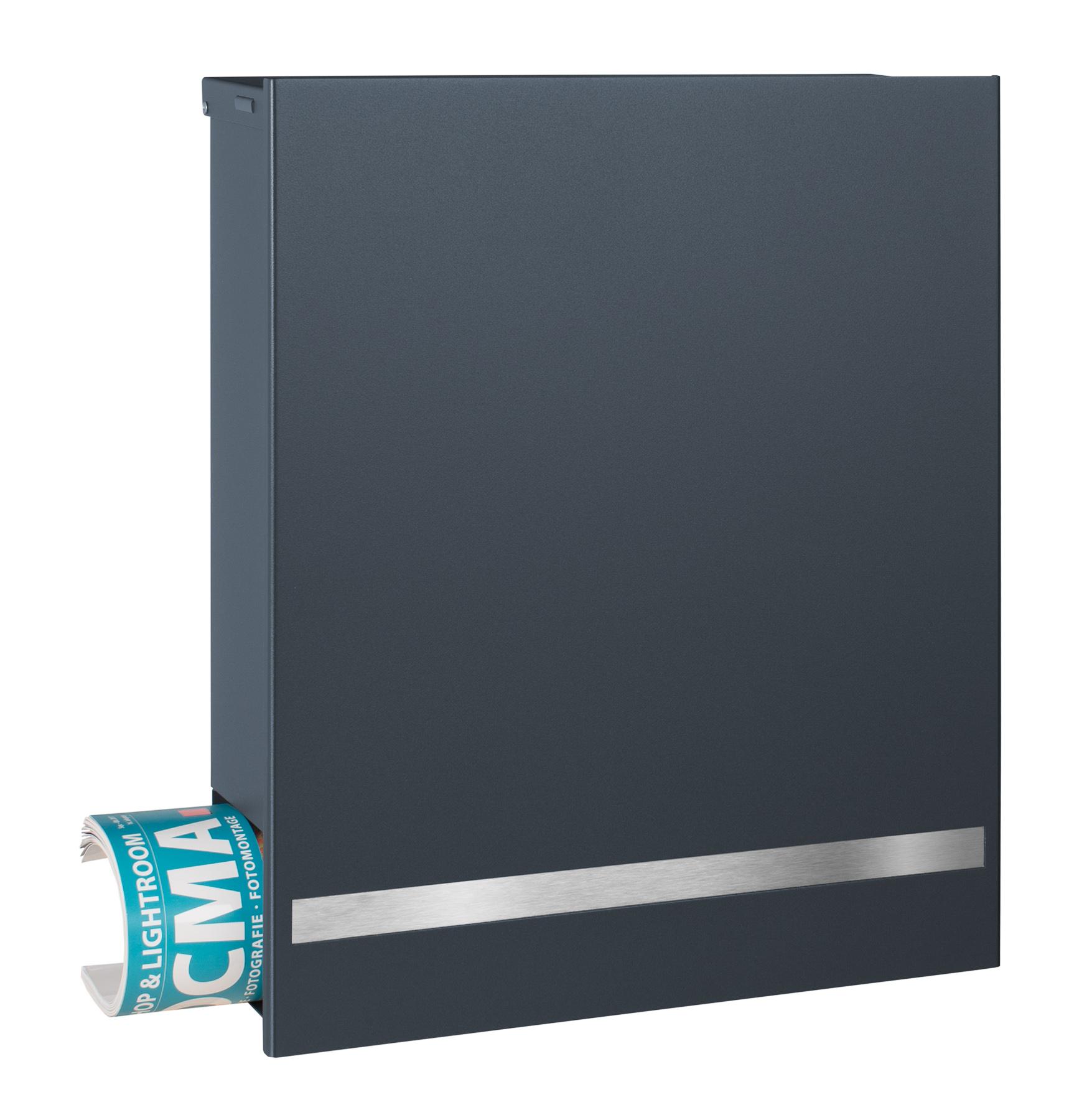 mocavi box 131 design briefkasten anthrazit grau gravurband aus edelstahl deutsche produktion. Black Bedroom Furniture Sets. Home Design Ideas
