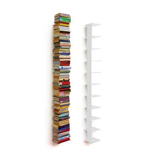 Wandregal bücher unsichtbar  Haseform Bücherturm 170 cm (für 1,80 m Bücher) weiss Bücherregal ...