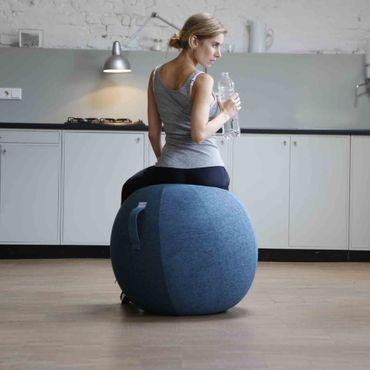 Vluv Stov Stoff-Sitzball Durchmesser 60-65 cm Kiesel / Hellbeige – Bild 4