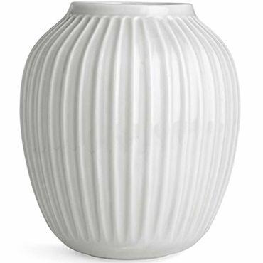 Kähler Hammershøi Vase weis groß Höhe 25 cm aus Porzellan