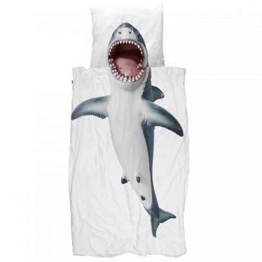 Snurk Bettwäsche Shark 135 x 200 cm 100% Baumwolle