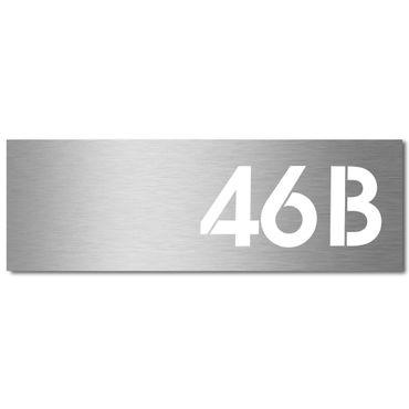 MOCAVI Stick 210 Tür- oder Briefkastenschild mit Hausnummer graviert Edelstahl V4A, groß, selbstklebend, modernes Design