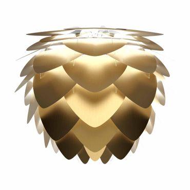 Umage / VITA Aluvia Mini Pendelleuchte Messing gebürstet Lampenschirm D 40 cm Lampe