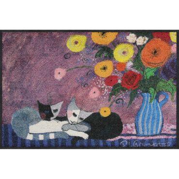 Rosina Wachtmeister Sleep Well Salonloewe Fußmatte waschbar 50 x 75 cm