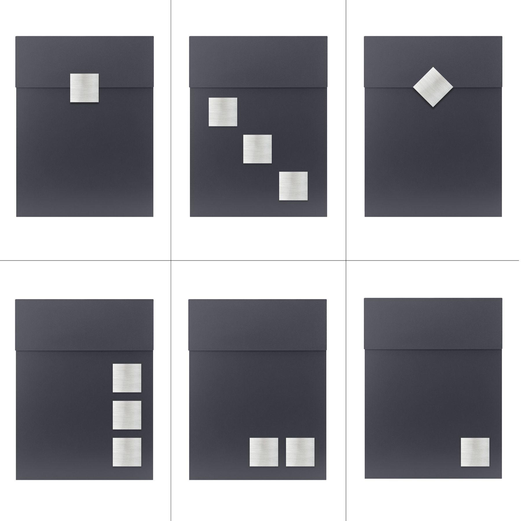 mocavi box 500 briefkasten mit zeitungsfach anthrazit grau. Black Bedroom Furniture Sets. Home Design Ideas