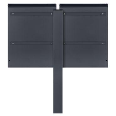 MOCAVI SBox 500 Moderner Doppel-Briefkasten freistehend mit Zeitungsfach anthrazit (RAL 7016) – Bild 9