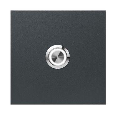 MOCAVI RING 505 moderne Klingelplatte anthrazit aus V4A-Edelstahl, quadratisch (8,5 cm), LED-Taster – Bild 1