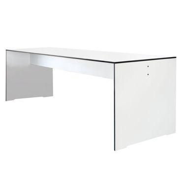 Conmoto Riva - Tisch S / 180 weiß - wetterfest aus HPL - Outdoortisch - Terrassentisch – Bild 1