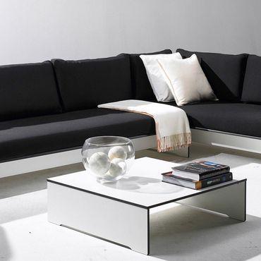 Conmoto Riva Lounge - Couchtisch - Beistelltisch - weiss - 80 x 80 cm – Bild 2