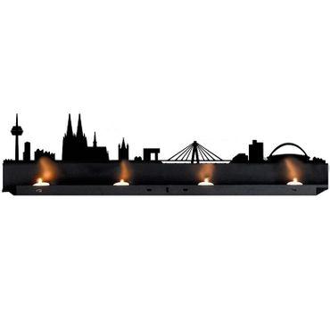 Radius Licht Köln Teelichthalter schwarz 80x18x5 - 711 a – Bild 1