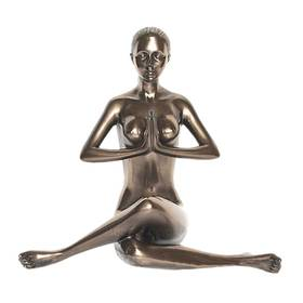 Body Talk Figur Yoga Anjali Mudra salutation seal Bronzeoptik