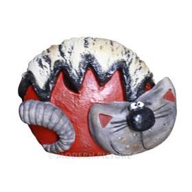 Spardose aus Keramik Katze Handarbeit