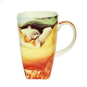 Tasse Sir Frederic Leighton Flaming June edel und schick Kaffeetasse mit Geschenkverpackung
