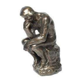 Auguste Rodin Der Denker Figur Skulptur Bronzeoptik – Bild 1